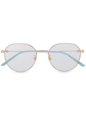 Gucci Eyewear Round Frame Glasses - Farfetch