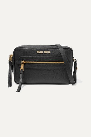 Miu Miu | Textured-leather shoulder bag | NET-A-PORTER.COM