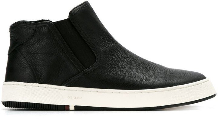 High Ankle Leather Sneakers