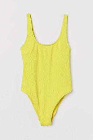 High Leg Swimsuit - Yellow