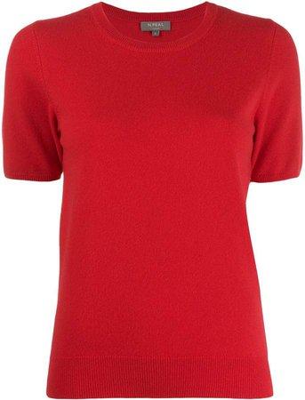 cashmere short-sleeved top