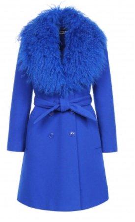 coat blue moschino