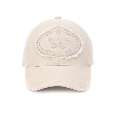 Appliquéd cotton cap