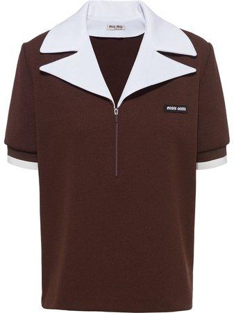 Miu Miu Oversized Collar Polo Shirt - Farfetch