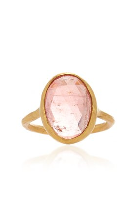 Margery Hirschey Large Pink Tourmaline Ring