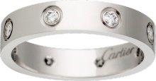 CRB4050600 - Alliance LOVE 8 diamants - Or gris, diamants - Cartier