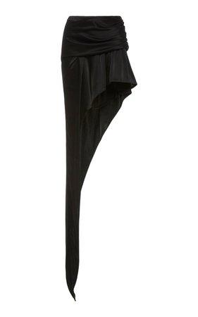Exposed Leg Sateen Mini Skirt by Alexander Wang | Moda Operandi