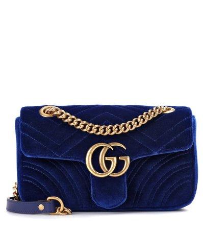Gg Marmont Mini Velvet Shoulder Bag | Gucci -