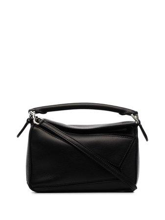Black Loewe mini Puzzle bag - Farfetch