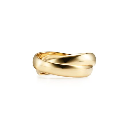 Paloma's Melody two-band ring in 18k gold. | Tiffany & Co.