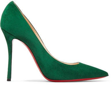 Decoltish 100 Suede Pumps - Forest green