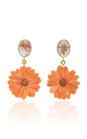 Bahina One of a Kind Real Daisy Earrings