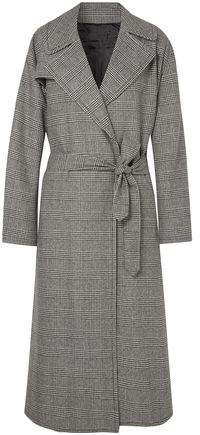 Topher Distressed Prince Of Wales Checked Wool-blend Tweed Coat