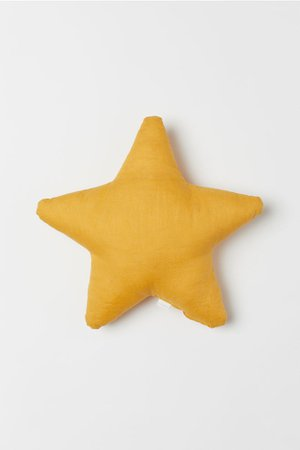 Star-shaped cushion - Mustard yellow - Home All | H&M GB