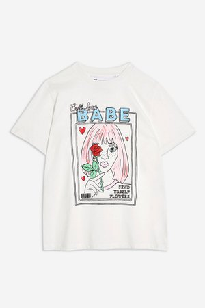 Magazine Girl T-Shirt by Tee & Cake | Topshop