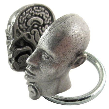 Anatomical Human Head Keychain Human Anatomy Keychain