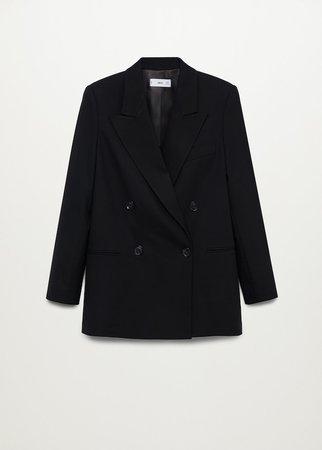 Double-breasted structured blazer - Women | Mango USA