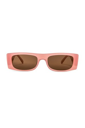 Le Specs Recovery in Flossy Pink & Brown Mono | REVOLVE
