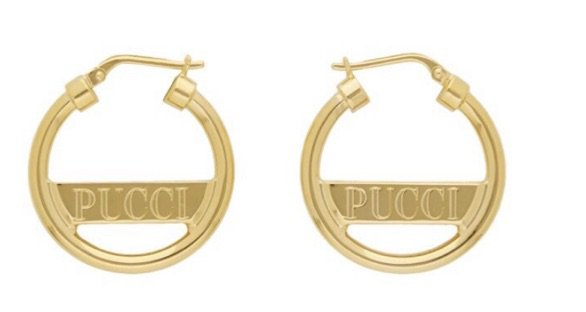 Pucci gold earrings