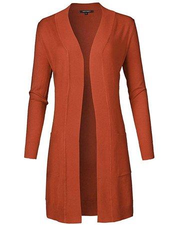 pumpkin orange cardigan sweater