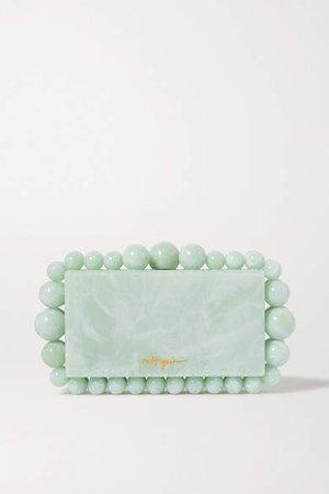 Eos Marbled Acrylic Clutch - Green