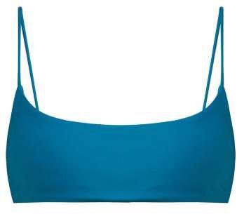 Muse Scoop Bikini Top - Womens - Blue