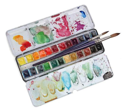 Watercolour paint palette