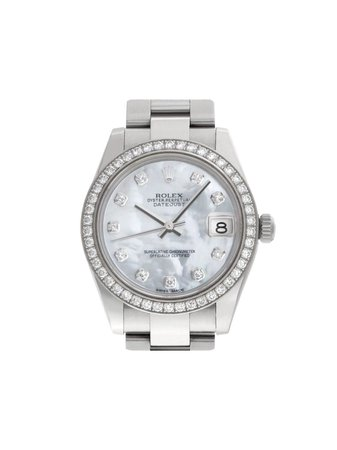 Rolex 1989 Pre-Owned Datejust 30Mm Continuity | Farfetch.com