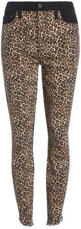 Good High Rise Leopard Skinny Jean