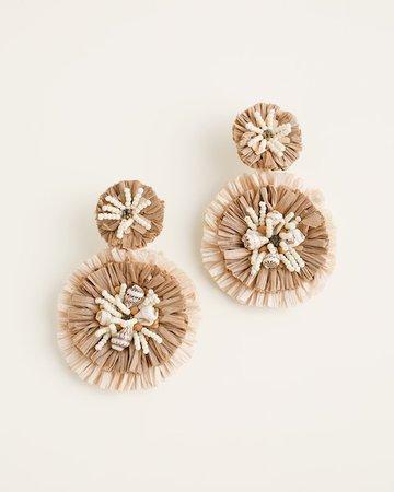 Neutral Fringe Chandelier Earrings - Chico's