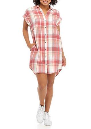 TRUE CRAFT Short Sleeve Shirt Dress