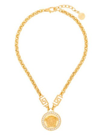 Versace Icon Medusa crystal-embellished Necklace - Farfetch