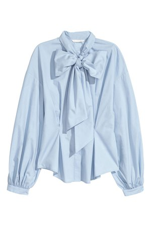 Baby Blue Bow Blouse 1