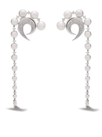 Tasaki 18Kt White Gold Diamond Cove Earrings | Farfetch.com