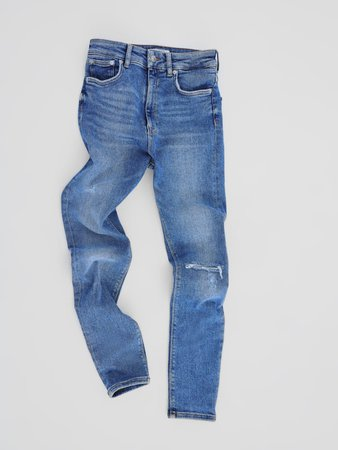 ZW PREMIUM 80S HIGH WAIST VENICE BLUE JEANS - NEW IN-WOMAN | ZARA United States blue