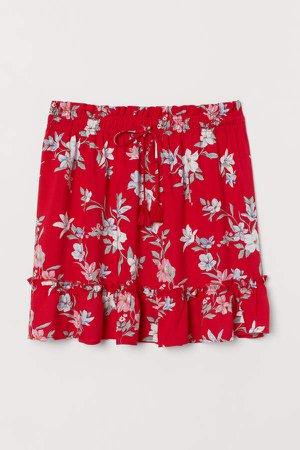 Patterned Skirt - Red