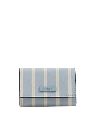 MANGO Striped purse