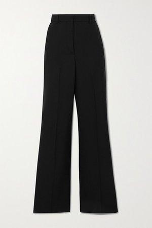 Tambi Woven Straight-leg Pants - Black