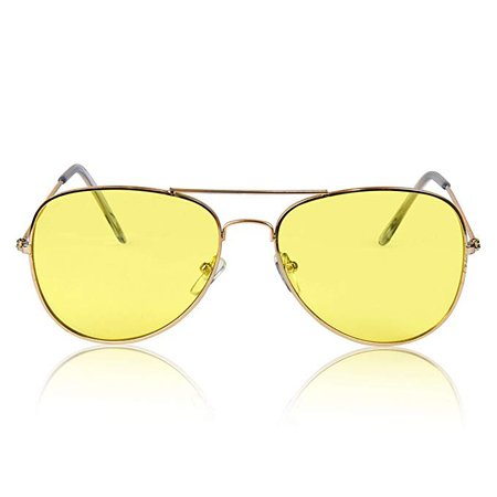 Amazon.com: Night Vision Glasses for Driving Shooting Anti Glare Sunglasses HD Eye Yellow: Clothing