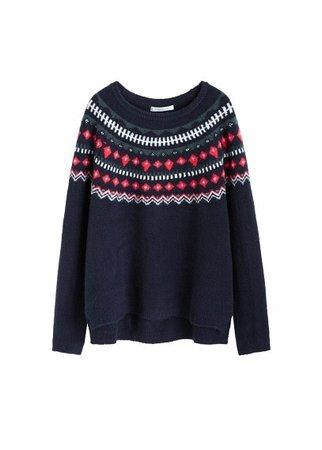 Violeta BY MANGO Jacquard sweater