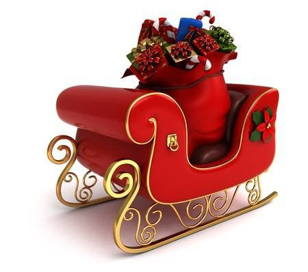 3D Illustration Of A Christmas Sleigh Loaded With Gifts Stock Photo, Picture And Royalty Free Image. Image 11467497.