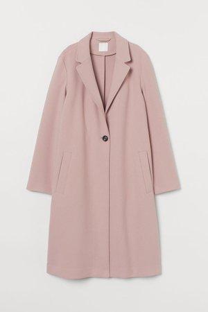 Single-breasted coat - Pale pink - Ladies | H&M GB