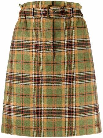 Alberta Ferretti high-waisted Plaid Skirt - Farfetch