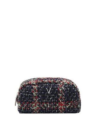 Violeta BY MANGO Tweed cosmetic bag
