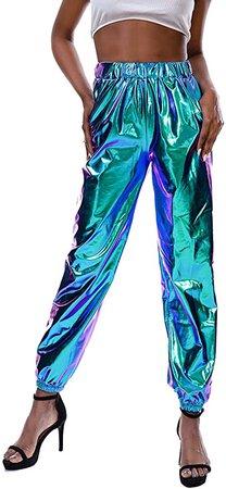 Women's Metallic Shiny Pants
