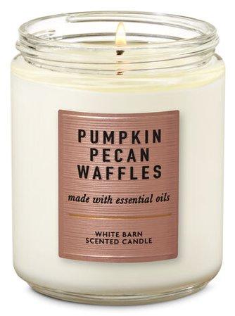 Pumpkin Pecan Waffles Single Wick Candle | Bath & Body Works