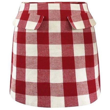 FRS Red Plaid Mini Skirt