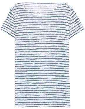Striped Slub Linen-jersey T-shirt