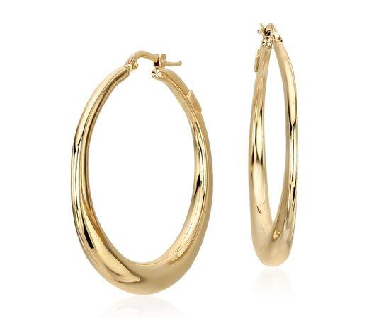 gold hoop earrings - Google Search