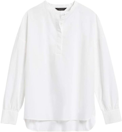 JAPAN EXCLUSIVE Oversized Banded-Collar Shirt